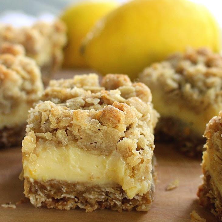 Creamy Lemon Crumb Bars Recipe