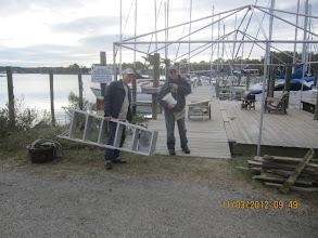 Photo: Bill and Jim doing dock work.