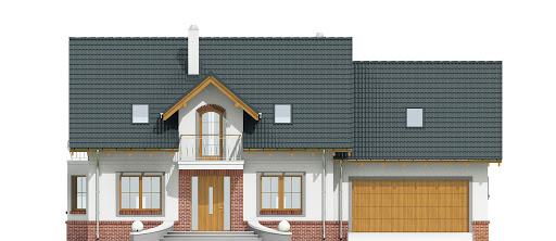 Dom Dla Ciebie 1 w4 z garażem 2-st. A1 - Elewacja przednia
