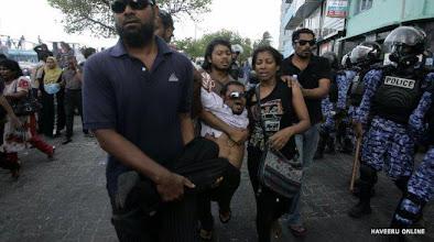 Photo: Mohamed Samah - Male' Deputy Mayor in the brutal crackdown on MDP peaceful demonstration on 8/2/2012