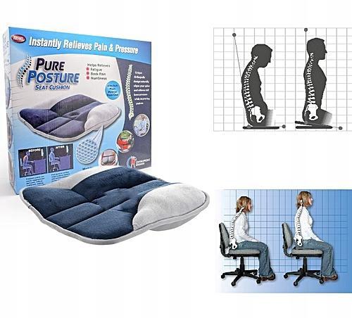 59 lei - Perna ortopedica Pure Posture prevazuta cu gel pentru corectarea  posturii | Target Deal