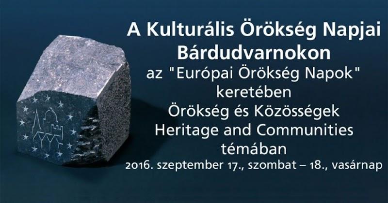 A Kulturális Örökség Napjai Bárdudvarnokon 2016