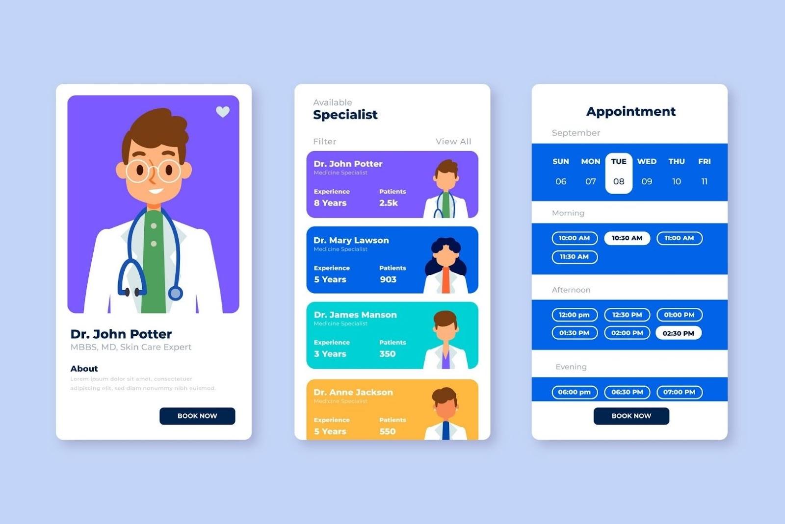 Healthcare Mobile App Patients