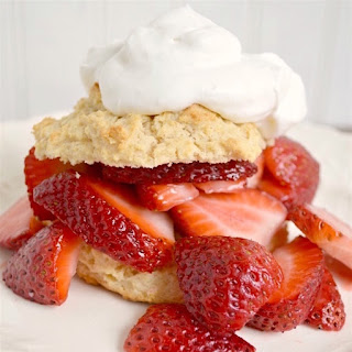 Strawberry Shortcake with Crunchy Drop Biscuits Recipe