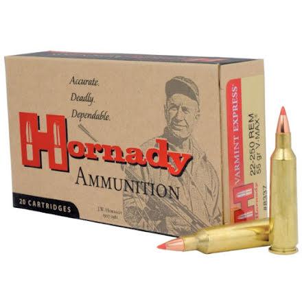 Hornady 22-250 55gr V-Max