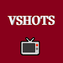 Vshots video player and sharing network icon
