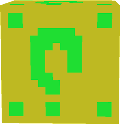 THIS IS A GREEN LUCKY BLOCK