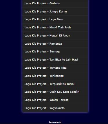 mp3 kla project lantai dansa