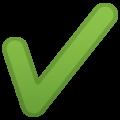 Heavy Check Mark on Google Android 9.0