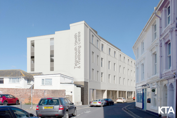 Artist impression of the new Teignmouth health and wellbeing centre