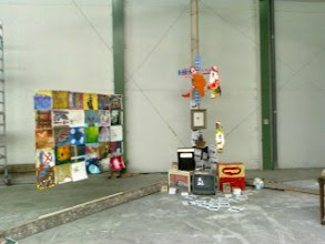 Photo: kunstboulevard Alkmaar, Hal 25, in the stand White Cube:  Jeroen van Paassen wrote: 1,000 visitors saw the Human Rights Flag on the 2nd day of Eastern in Holland. We received many compliments about it. Big compliments to all artists who participated!
