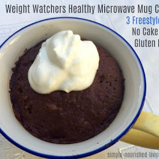 WW Healthy Microwave Mug Chocolate Cake.