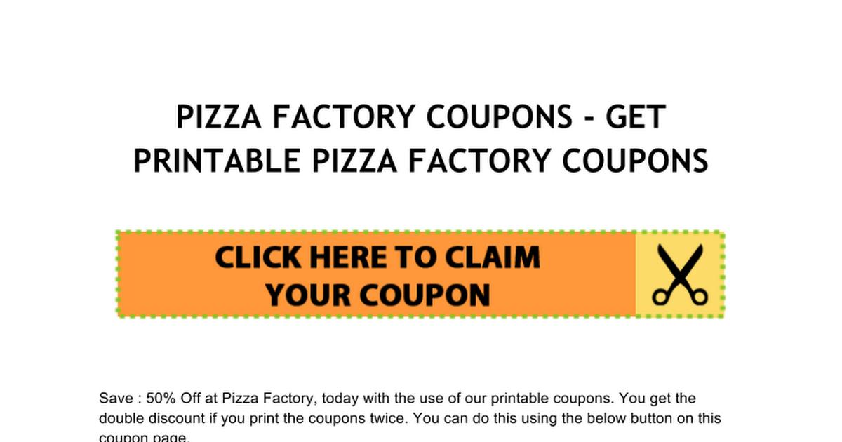 pizza factory coupons google docs