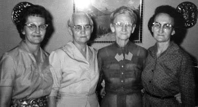 Photo: Melba, Nora, Flora, and Zela Franks 1959