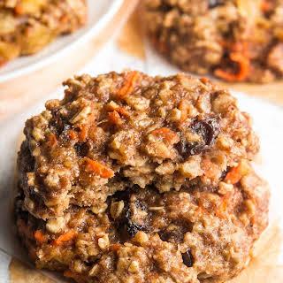 Loaded Carrot Cake Oatmeal Cookies.