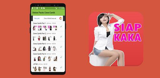 Sticker Cewe Cantik Lucu For Whatsapp Aplikasi Di Google Play