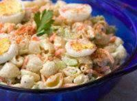 Cheddar Macaroni Salad W/peas