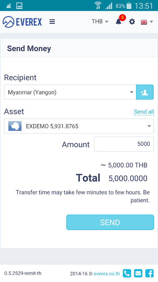 Everex Wallet- screenshot