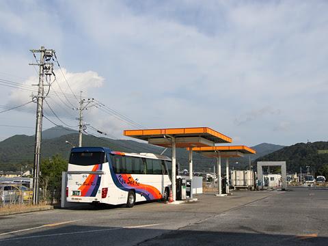 九州産交バス「サンライズ号」 ・707 九州産交バス西部車庫到着