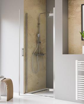 Porte de douche pivotante, 80, 90 ou 100 cm