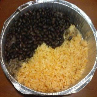 Chicken, Rice & Bean Burrito.