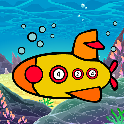 Aquatic Vehicles Color by Number - Adult Coloring Icon