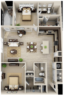 3D Floor plan design ideas - náhled