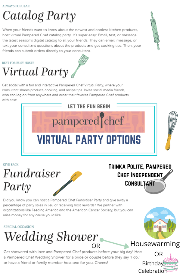 Choose the Pampered Chef Virtual Party that works for you!