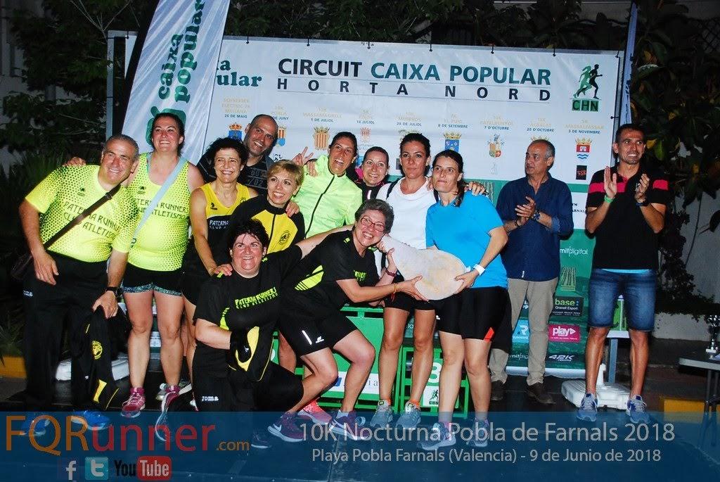 Paterna Runners, club más numeroso en 10K Pobla de Farnals 2018