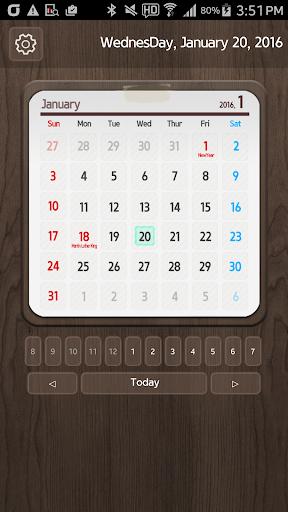 Calendar Widget 2016 Ultimate