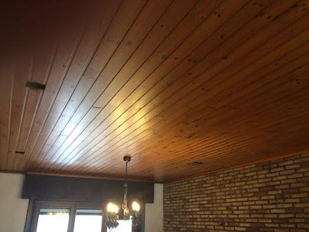 Schilderen plafond te Bertem - schilderwerken bertem: houten plafond schilderen, ramen schilderen