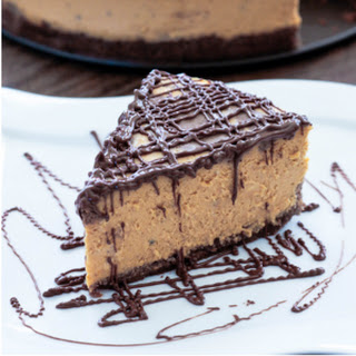 Pumpkin & Chocolate Marbled Cheesecake - Low Carb
