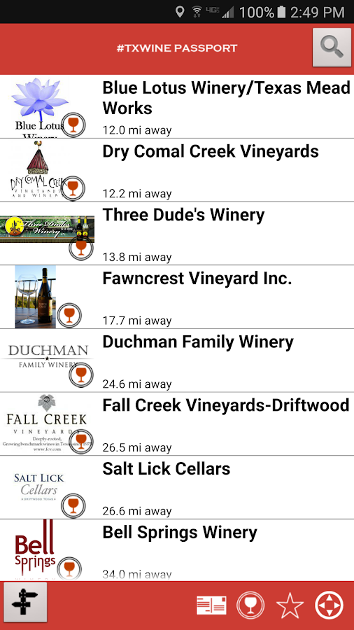 TX Wine Passport- screenshot