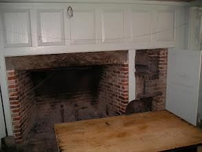 Photo: fireplace in Parsonage kitchen