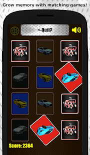 Autorama: Free Car Automobile Memory Matching Game 1
