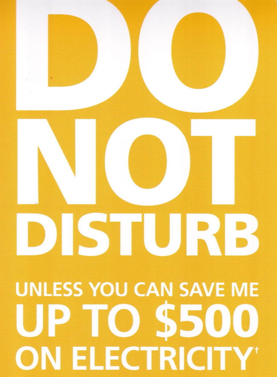 Save $500 on electricity.