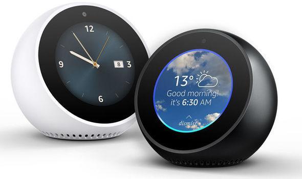 Kết quả hình ảnh cho The New Echo Spot Smart Alarm Clock with Alexa