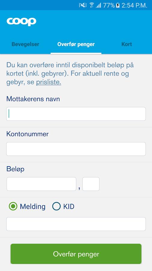 norwegian kort saldo