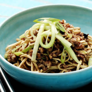 Low-Carb Asian Noodle Dish With Pork.