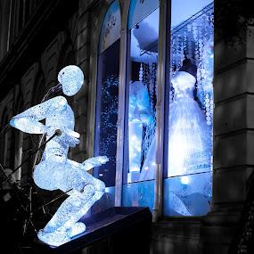 Festival of Light 2012, Huddersfield by Dimitri Foucault - Artistic Objects Other Objects ( shop, showcase, dress, puppet, dummy, festival, light )