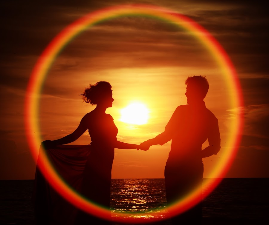 Circle by Leong Ong - Wedding Bride & Groom ( sunset, pre wedding )