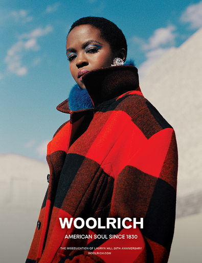 Woolrich Campaign Featuring Lauryn Hill