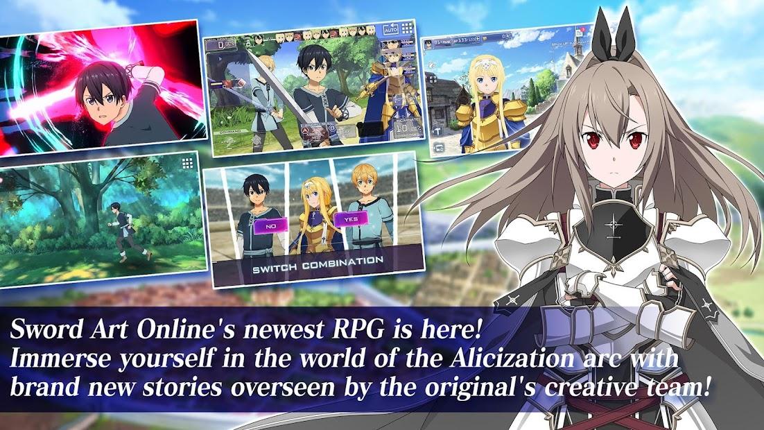 Sword Art Online Alicization Rising Steel Android App Screenshot