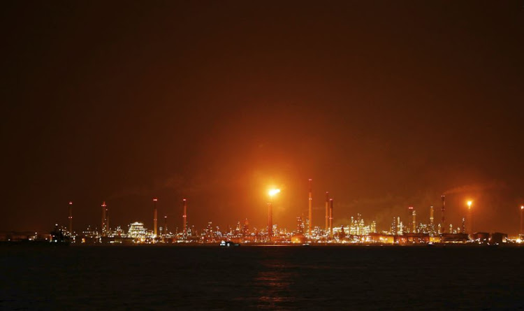 A general view of Royal Dutch Shell's Pulau Bukom offshore petroleum complex in Singapore.