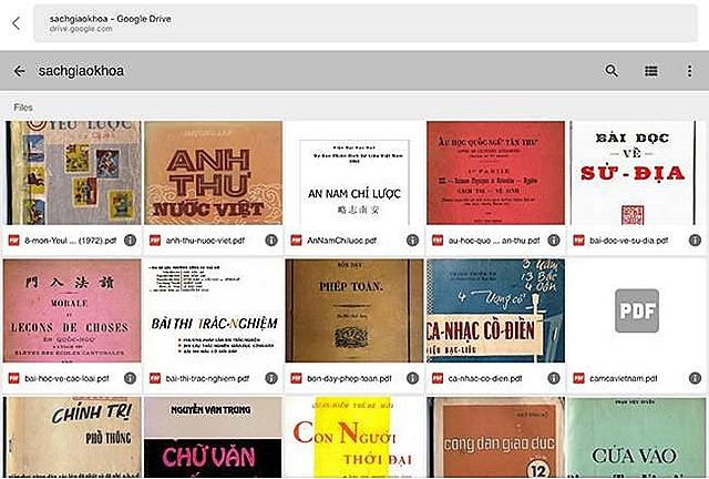 Sách điện tử và công trình vãn hồi, phổ biến sách báo xuất bản tại Miền Nam trước 1975