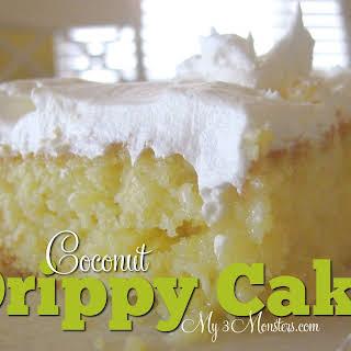 Coconut Drippy Cake.