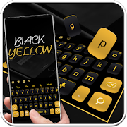 Simple Black Yellow Keyboard Theme