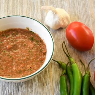 Serrano And Tomato Salsa.