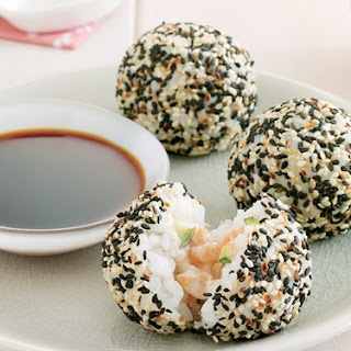 Salmon Sushi Balls.