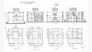 Plano de la vivienda conocida como Cortijo Fischer